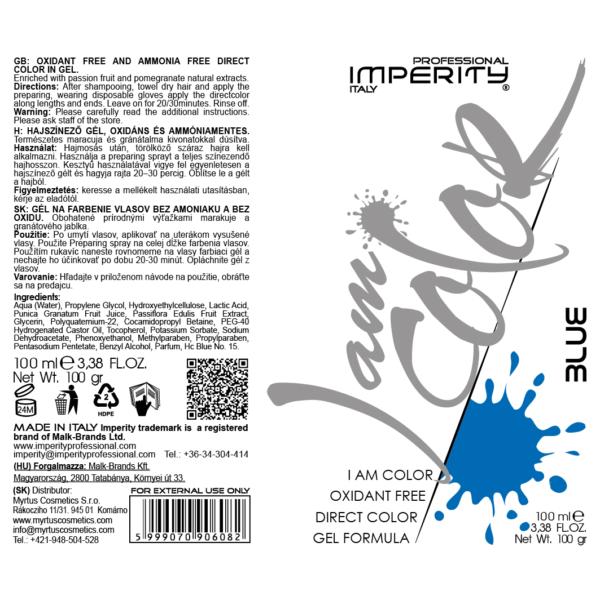 I Am Color Hajszínező Gél Kék 100ml IP