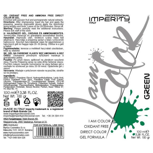 I Am Color Hajszínező Gél Zöld 100ml IP