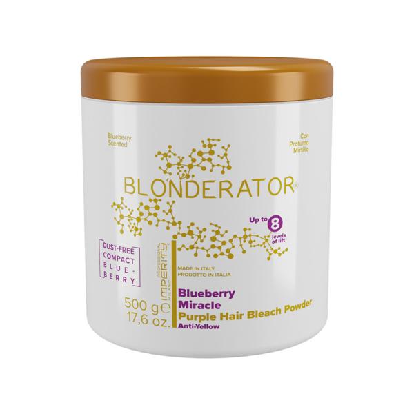 Blonderator Szuper Prémium Lila Hamvasító Szőkítőpor Áfonya Kivonattal 500g IP (8)